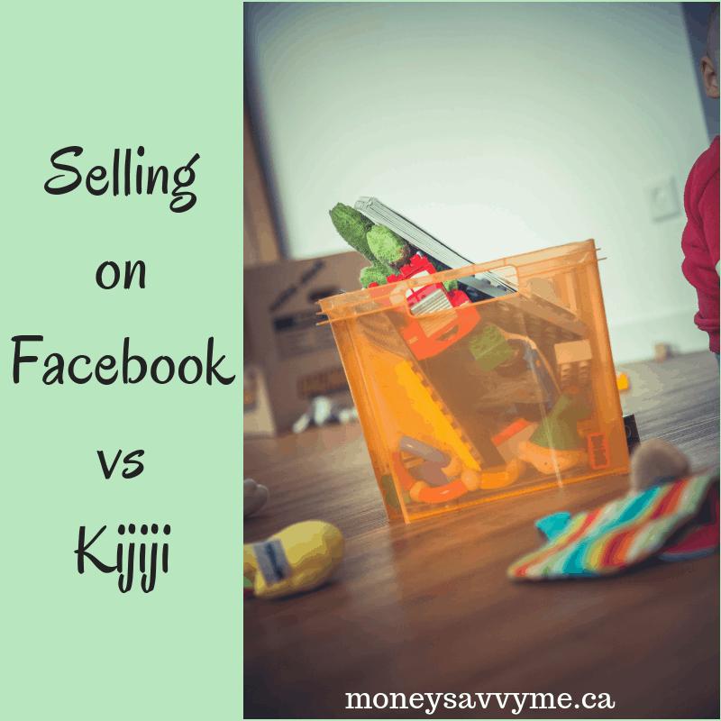 Selling on Facebook vs. Kijiji