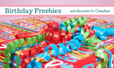 birthday freebies for Canadians