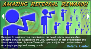 Get paid for referrals on Treasure Trooper