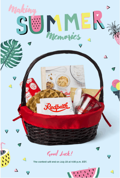 Redpath – Making Summer Memories Contest