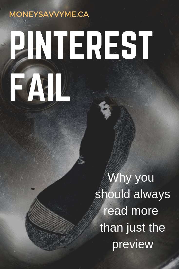 Pinterest Fail – Why You Should Always Read Beyond the Title