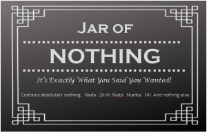 Free Jar of Nothing Printable
