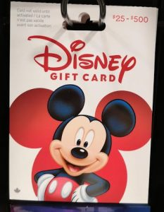 Save on Disney Gift Cards Canada