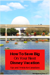 how to save money on Disney vacation