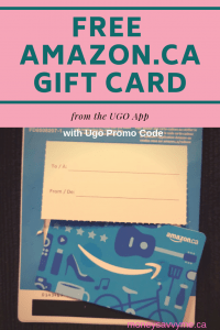 Amazon gift card from UGO