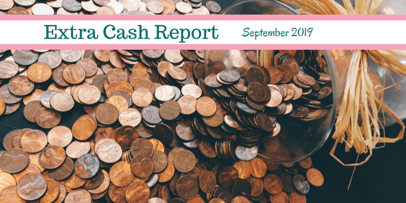 Extra Cash Report for September 2019