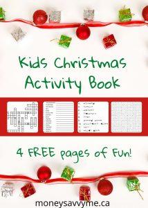 Free Kids Christmas Activity Book Printable